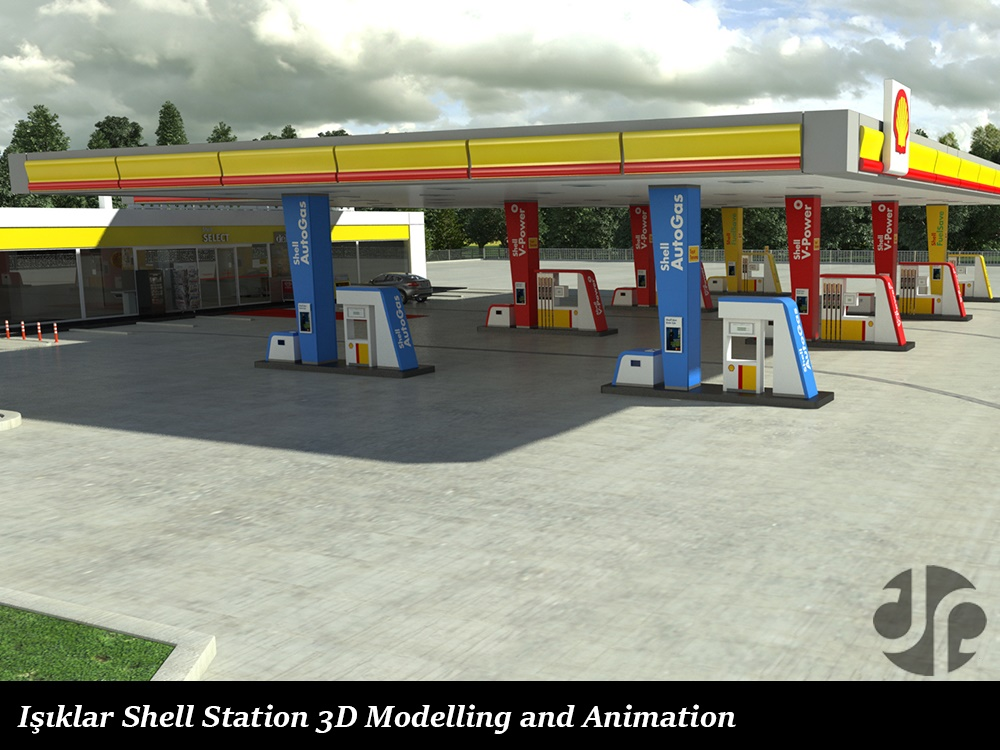 Işıklar Shell Station 3D Modelling and Animation